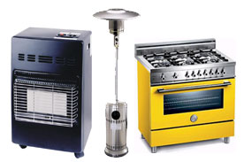 Plynové spotřebiče - sporáky, trouby, teplomety, gamata, bojlery